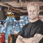 Blonde Guy at the Garage